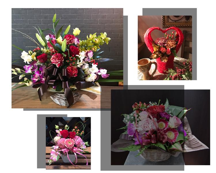 お客様の用途やお色を聞きながらオリジナルのお花をお作りいたします